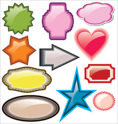 Design of advertisement labels stickers vector image vector image