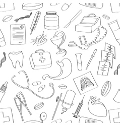 Doodle pattern Medical vector image