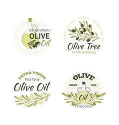 Olive Emblems Set vector image