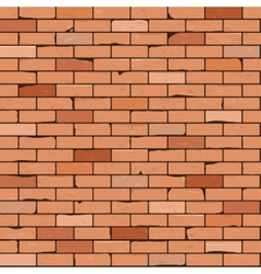Seamless brick wall background vector image