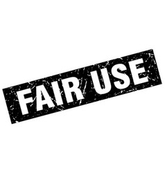 Square grunge black fair use stamp vector
