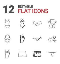 12 underwear icons vector