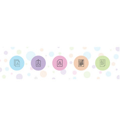 5 resume icons vector