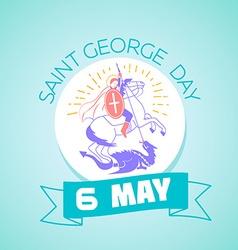 6 may Saint Georgi vector