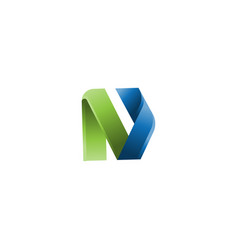 abstract letter n business company logo vector image