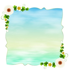 An empty template with plants vector image