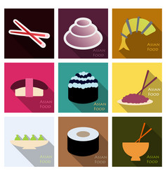 Asian food background asian food poster asian vector