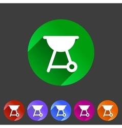 barbecue grill bbq flat icon web sign symbol logo vector image