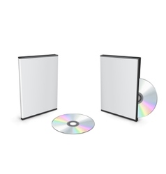 Blank dvd case vector