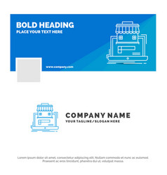Blue business logo template for business vector