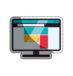 browser web interface vector image