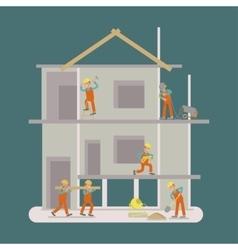 Builders construction working vector image