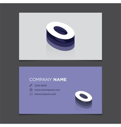 Business card number 0 vector