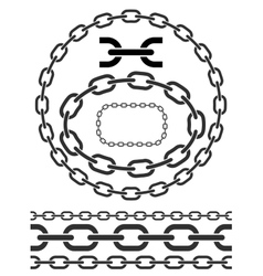 Chain icons parts circles chains vector