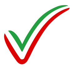check mark iran flag symbol elections voting vector image