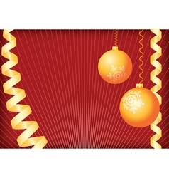 christmas background gold and red vector image