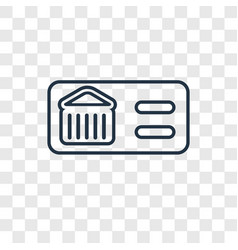 cinema concept linear icon isolated on vector image