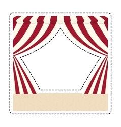 Circus curtain raises vector