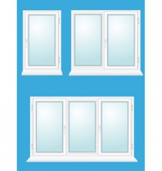 closed plastic glass window illustration vector image