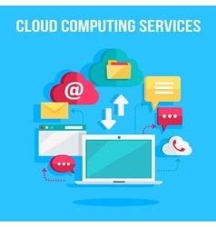 Cloud Computing Services Banner vector image