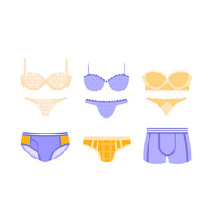 collection male and female underwear clothes vector image