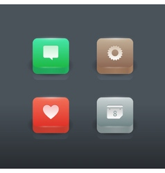 Colorful gradient buttons set vector image