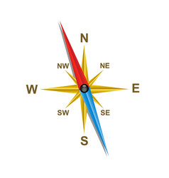 compass with shadow vector image