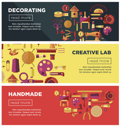 Creative art workshop or diy handicraft laboratory vector