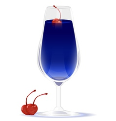 Drink blue curacao vector image