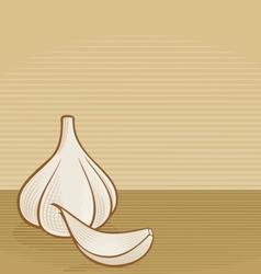 Garlic woodcut vector