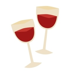 Glass wine vector