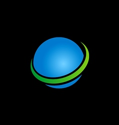 Globe sphere earth blue logo vector