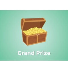 Grand prize prizes with green background and gold vector