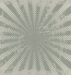 Grunge halftone rays vector
