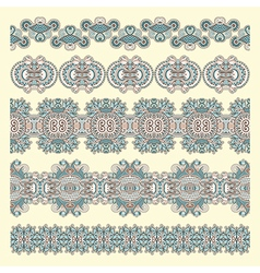 hand draw ornate flower ornament vector image