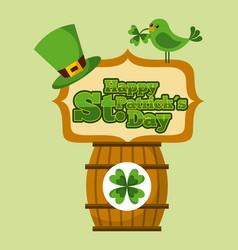 happy st patricks day greeting invitation card vector image