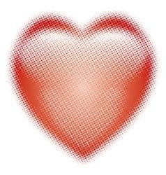 Heart halftone symbol vector image