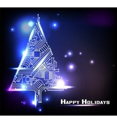 Hi-tech christmas tree vector