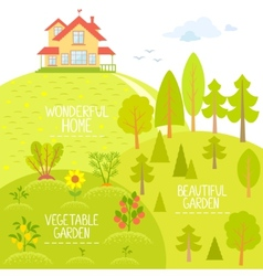 Home and Garden vector image