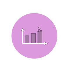 In flat design of column chart vector