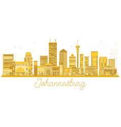 Johannesburg south africa city skyline golden vector