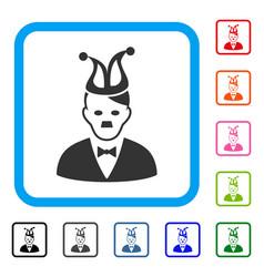Joker hitler framed icon vector