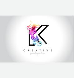 K vibrant creative leter logo design vector