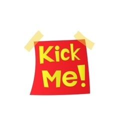 Kick me april fools day sticker icon vector image