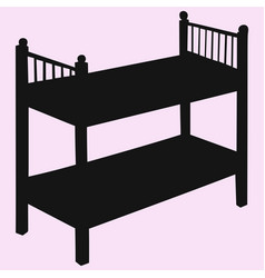 kids bunk bed vector image