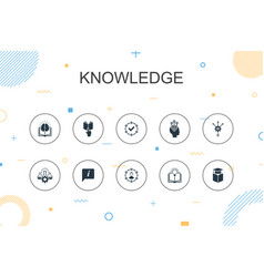 Knowledge trendy infographic template thin line vector