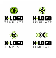 Letter X logo symbol template vector image