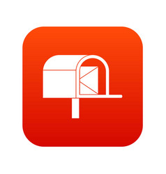mailbox icon digital red vector image