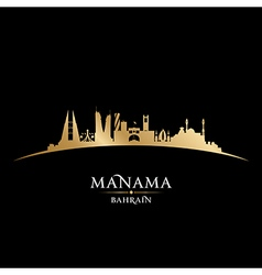 Manama Bahrain skyline Detailed silhouette vector