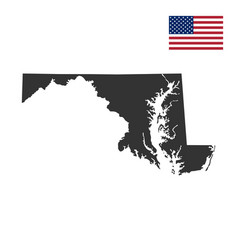 map of the us state of maryland vector image